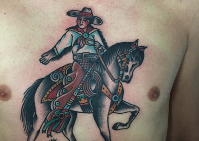Traditional Cowboy on horse