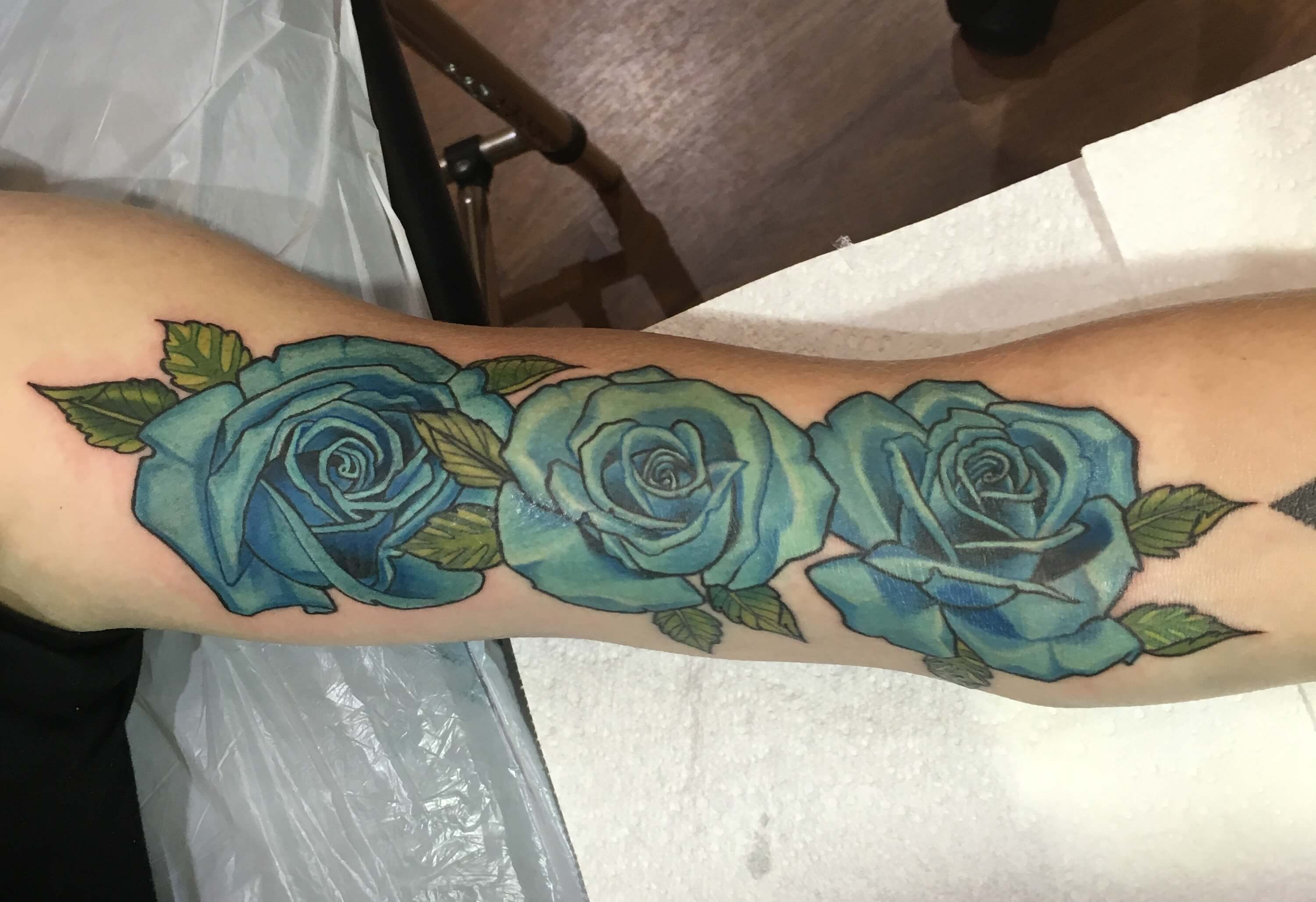Large Blue roses
