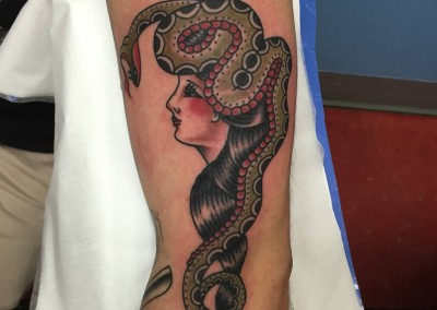 Traditional Snake lady