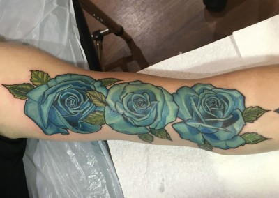 Large Blue roses
