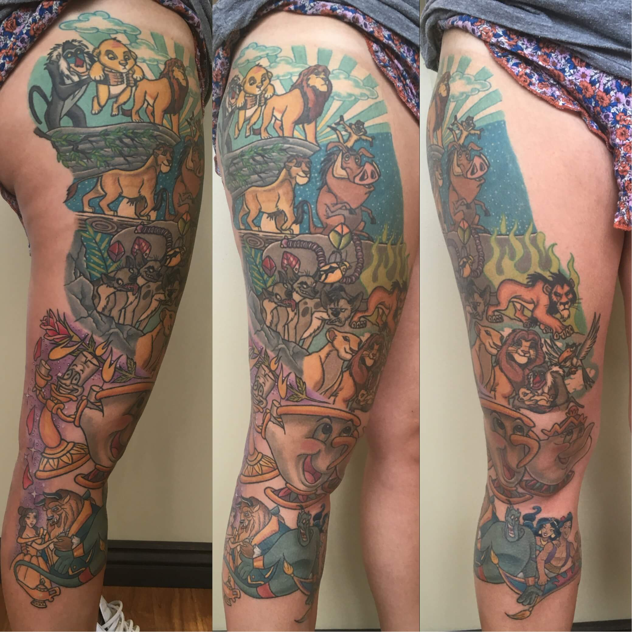 Lion King and Beauty and the Beast full leg