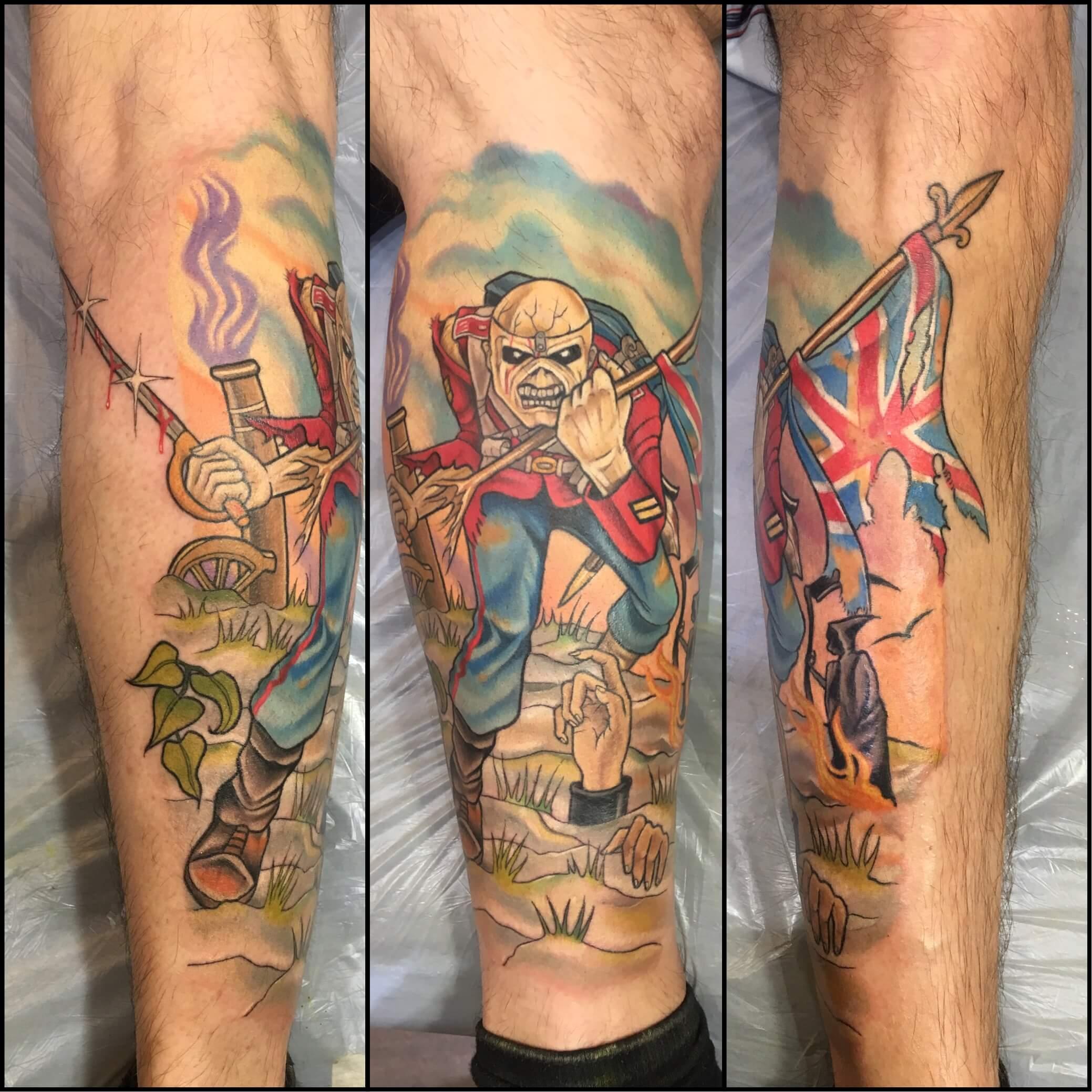 Warrior Skeleton Tattoo