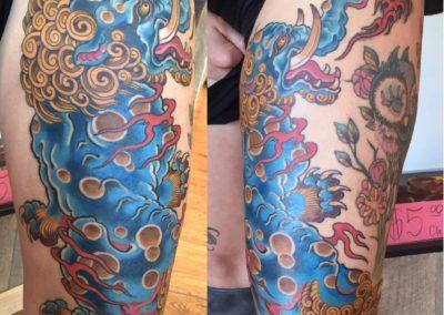 Japanese Baku Tattoo Full Colour