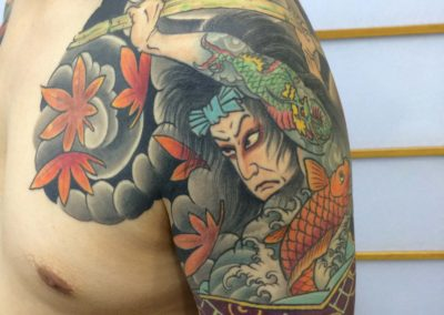 Japanese Warrior half sleeve Chest